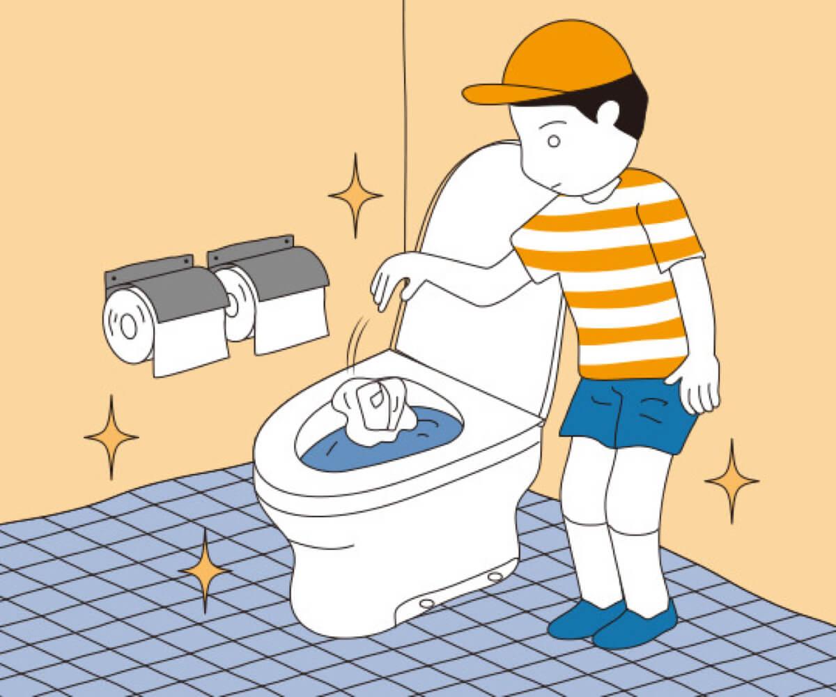 청결한 화장실 사용