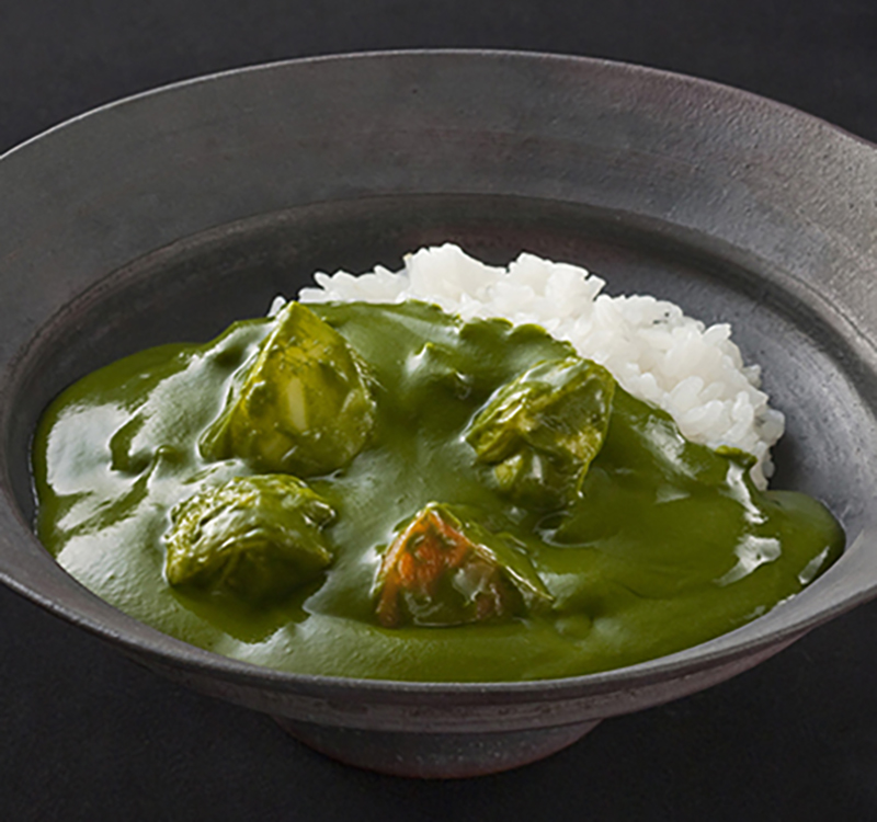 Uji matcha green tea dishes