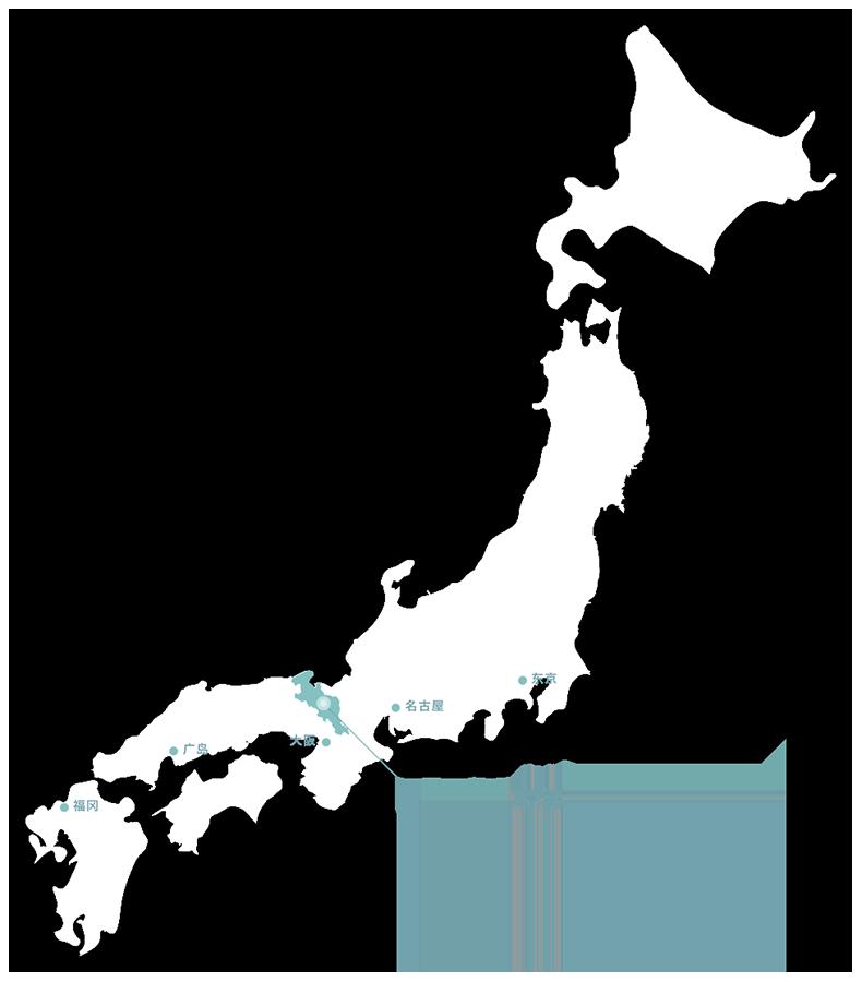 从日本地图中指出京都府的位置图