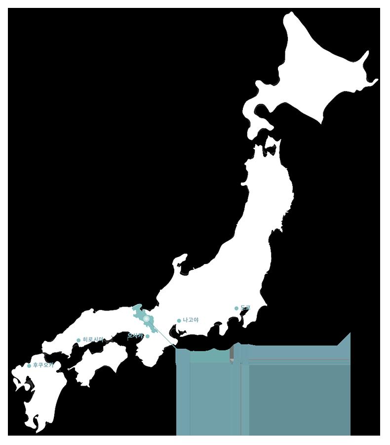 일본 지도로 보는 교토 위치도