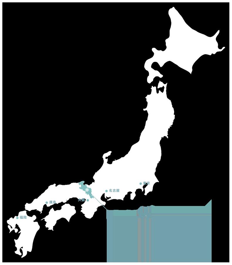 從日本地圖中指出京都府的位置圖